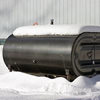 Outdoor heating tank