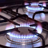 Propane stove flame