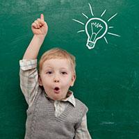 Child light bulb moment