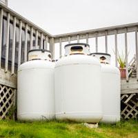 Large propane cylinders