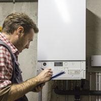 Condensing boiler maintenance